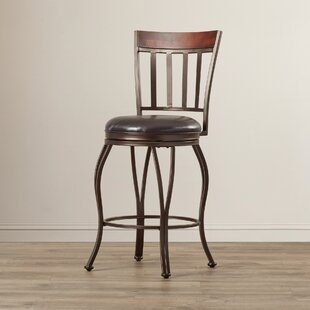 Capitol Swivel Bar Stool Red Barrel Studio