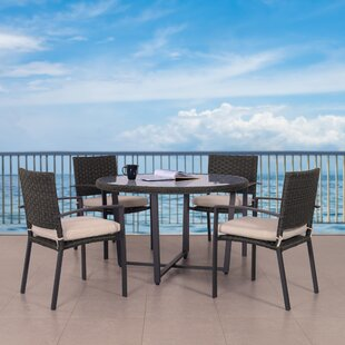 Darcella Wide 5 Piece Dining Set with Cushions