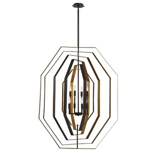 House of Hampton Morales Customizable 8-Light Geometric Chandelier