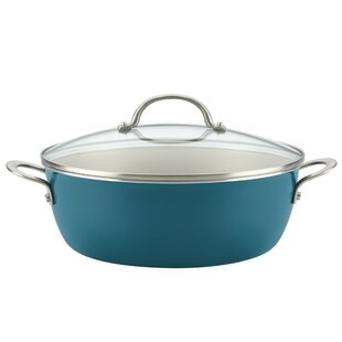 7.5 qt. Porcelain Enamel Non-Stick One Pot Meal Stockpot with Lid