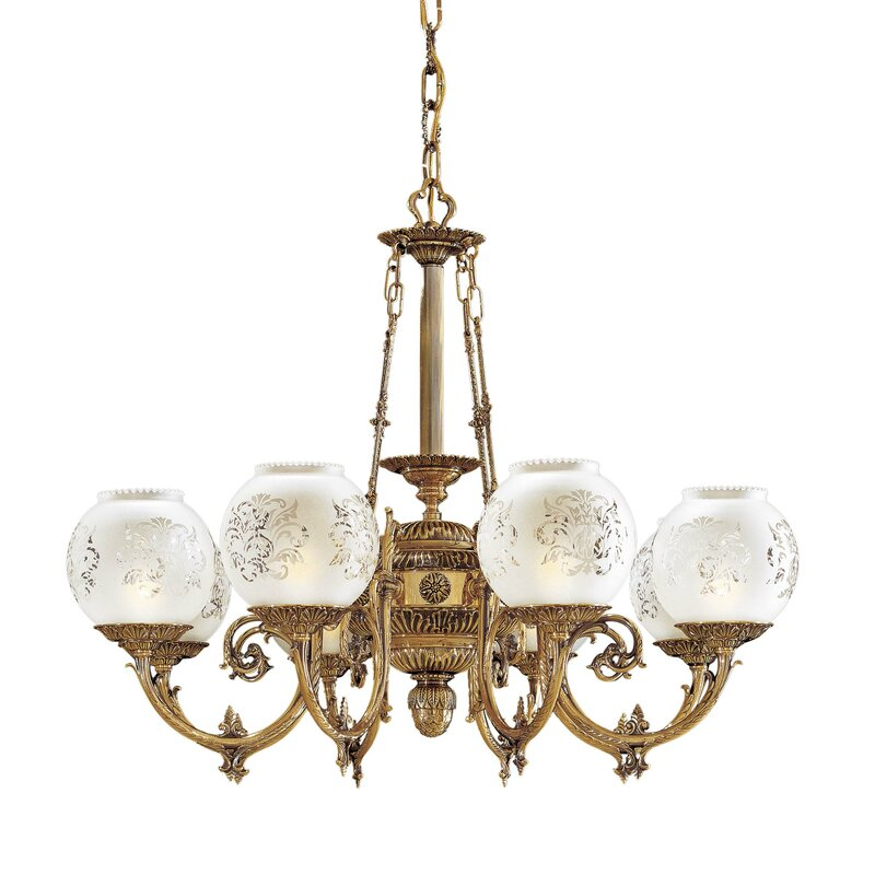 Metropolitan by Minka Vintage 8-Light Shaded Classic / Traditional Chandelier