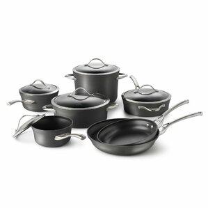 Contemporary Nonstick 12 Piece Cookware Set