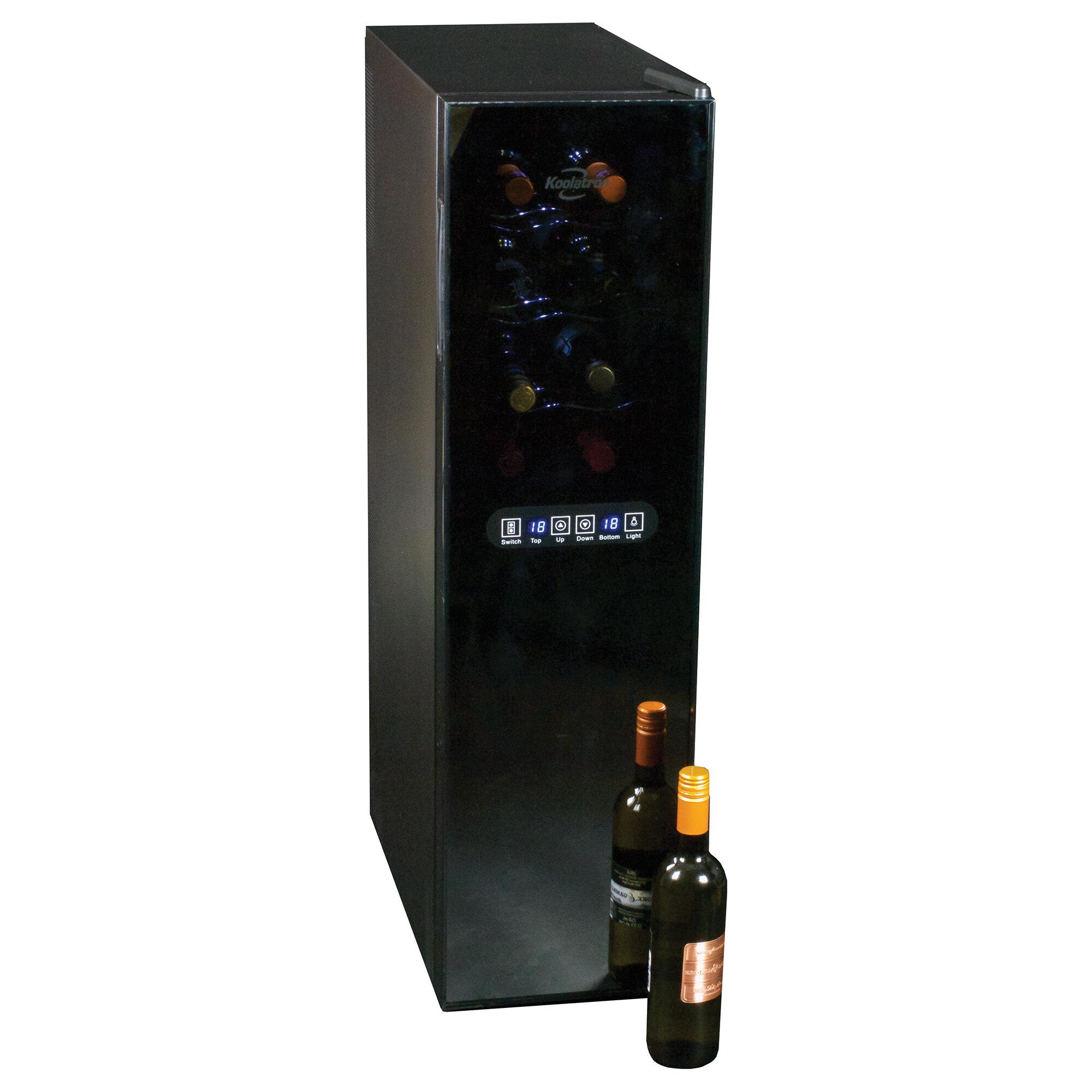 Koolatron 18 Bottle Dual Zone Freestanding Wine Refrigerator Reviews Wayfair