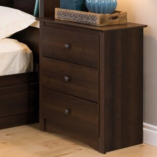 Penelope Tall Espresso 3 Drawer Nightstand