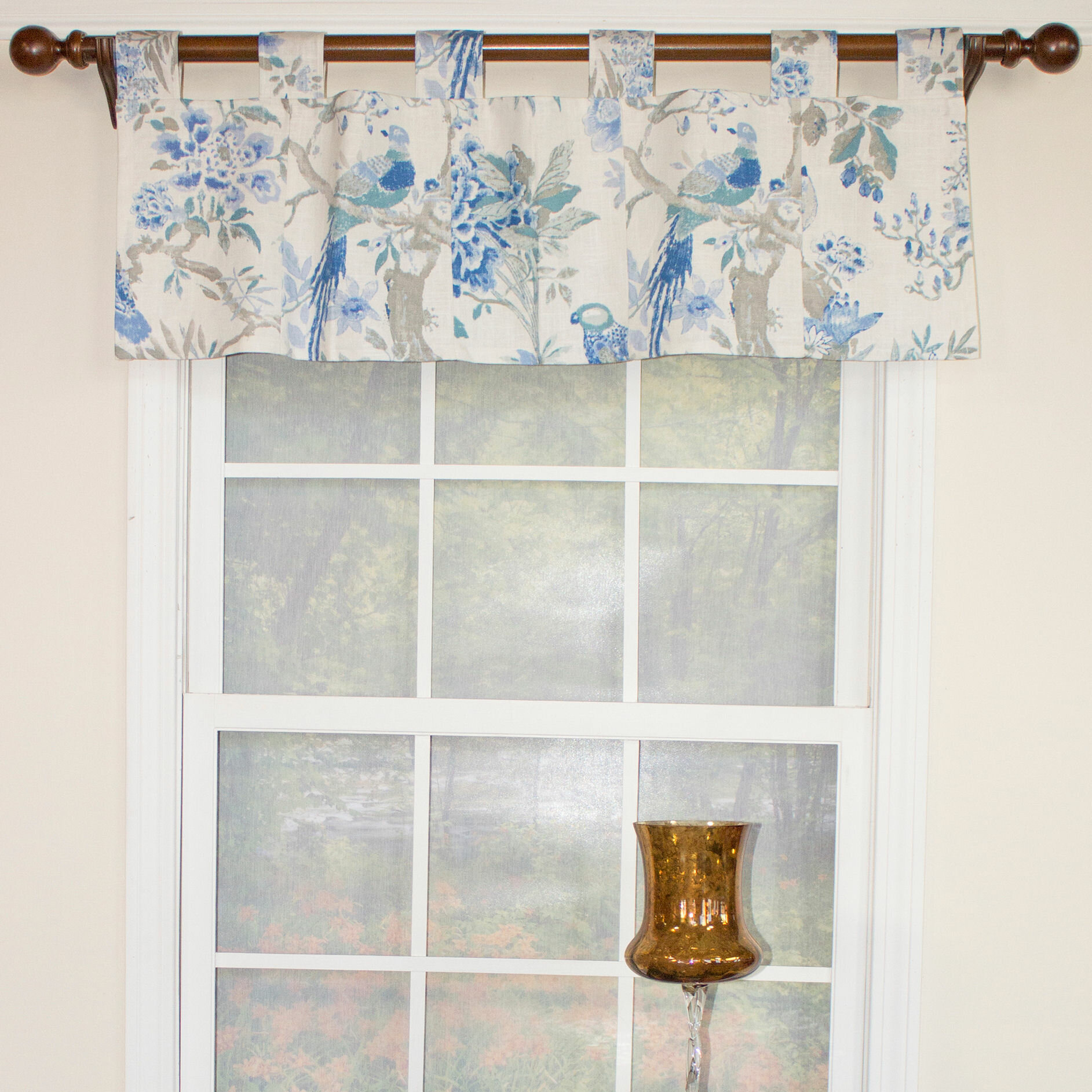 August Grove Weitzman Patchwork Tab 44 Window Valance Reviews Wayfair