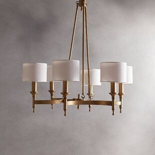 Willa Arlo Interiors Rudolph 6-Light Shaded Chandelier