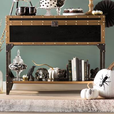 Mccrory Travel Trunk Console Table