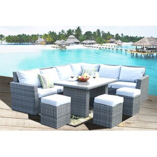 Hudson Oaks 8 Piece Rattan Sectional Seating Group