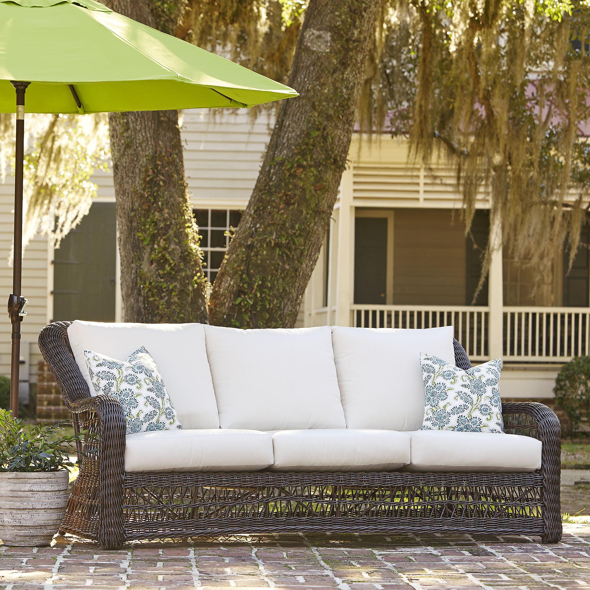 Elyse patio sofa with sunbrella cushions reviews birch lane