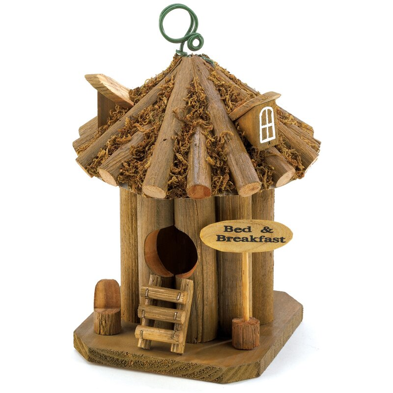 Weekend Cottage Log Cabin Birdhouse