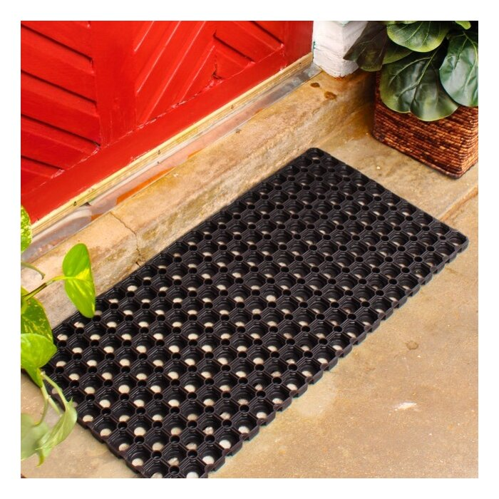 brown recycled parquet p door plush x trafficmaster in textures rubber mat mats