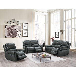 Chenai Leather Reclining Configurable Living Room Set by Red Barrel Studio