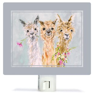 Oopsy Daisy Sweet Alpacas by Susan Pepe Night Light