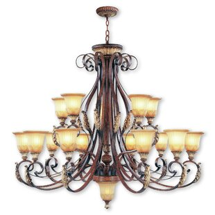 Astoria Grand Scottdale 16-Light Shaded Chandelier