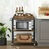 Hassen Kitchen Cart with Manufactured Wood Top by Millwood Pines