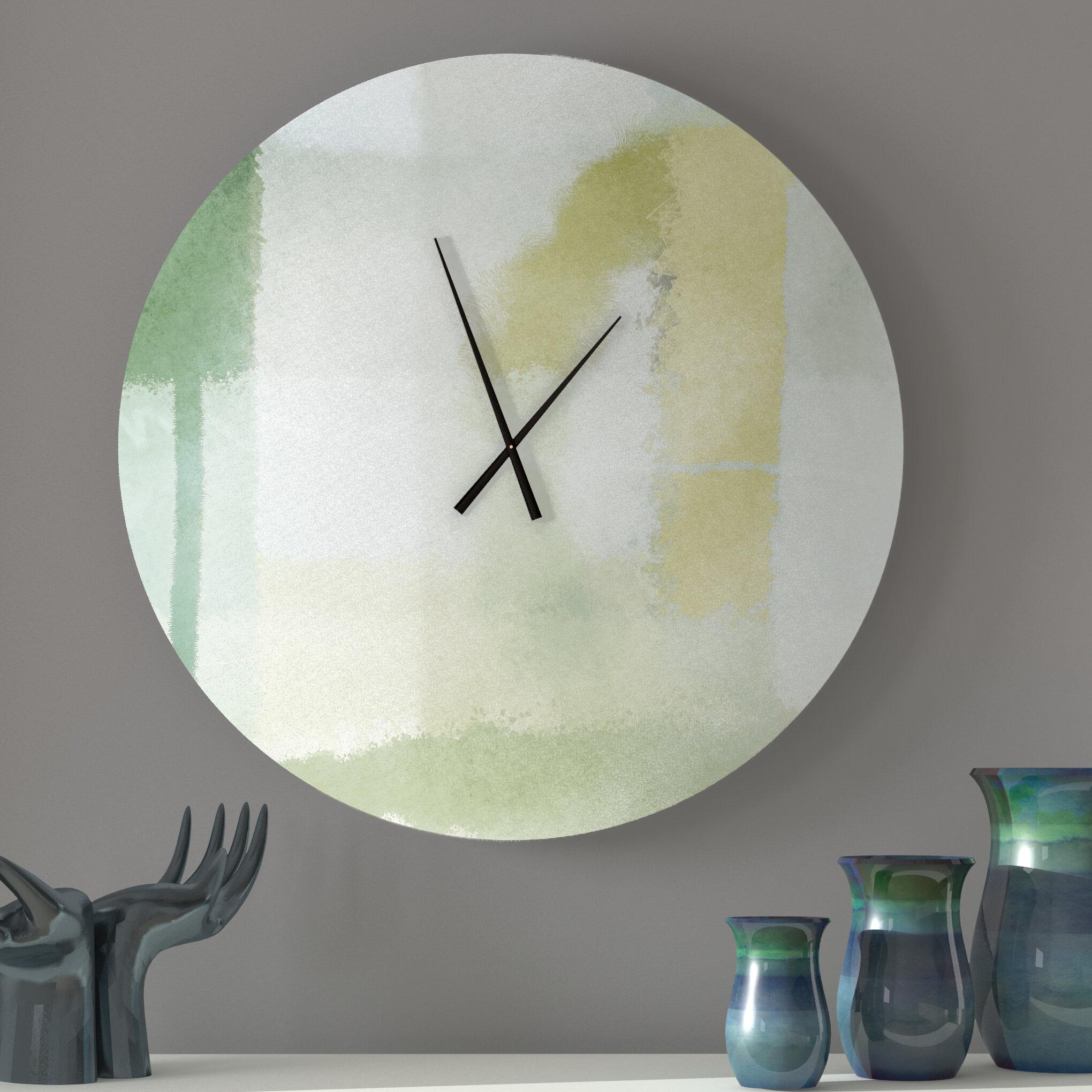 Latitude Run Decent Beauteous Abstract Metal Wall Clock Wayfair