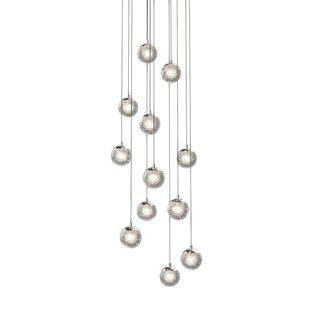 Mata 12-Light Cluster Pendant by Orren Ellis
