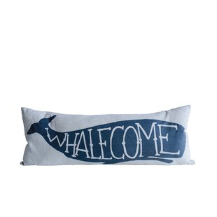 Willilams Whalecome Cotton Lumbar Pillow