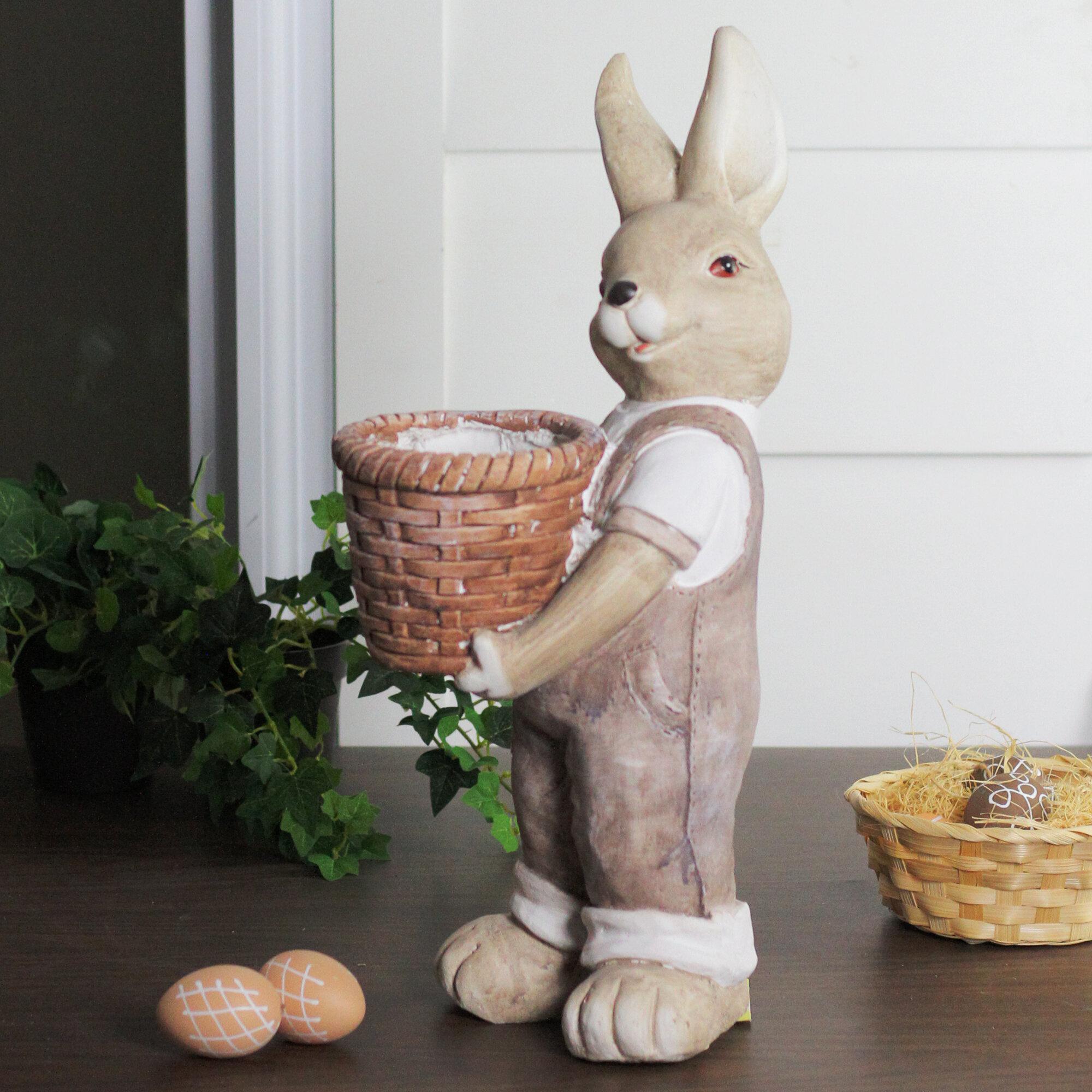 Kunstbloemen Gedroogd Outdoor Indoor Garden Faux Topiary Rabbit Bunny Animal Box Tree Rabbit Statue Huis Tecnomira Com Br