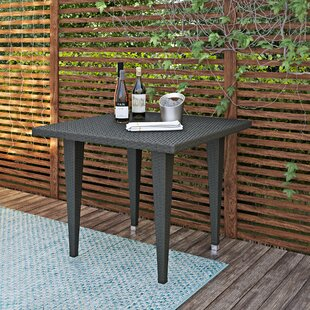 Brayden Studio Weishaar Outdoor Wicker Dining Table