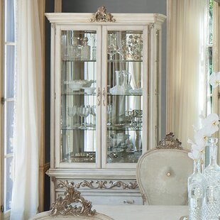 Platine De Royale Lighted Curio Cabinet by Michael Amini