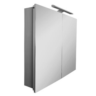 Sol 80cm X 75cm Surface Mount Mirror Cabinet With LED Lighting By Roca