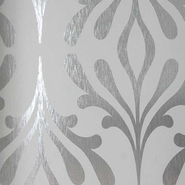 "York Wallcoverings Candice Olson Inspired Elegance 33' x 20.5"" Foiled Wallpaper Roll"