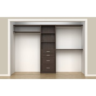 "SpaceCreations 50"" W - 121"" W Closet System"