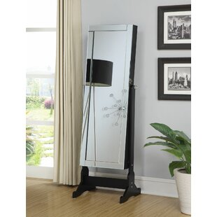 Guthrie Accent Swivel Interior Storage Cheval Jewelry Armoire with Mirror by Alcott Hill