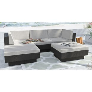 dCOR design Park Terrace 5 Piece Sectional Set with Cushions