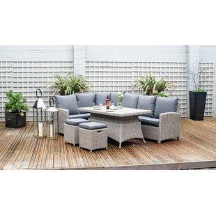 High 8 Seater Rattan Effect Corner Sofa Set Image