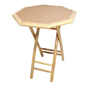 Farallones Octagonal Folding Bamboo End Table by Bay Isle Home Cool