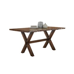 Adeline Solid Wood Dining Table Millwood Pines