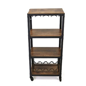 Gonde 4 Tier Wood and Metal Bar Cart by L..