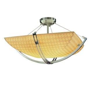 Mistana Thora 6-Light Round Bowl Semi Flush Mount