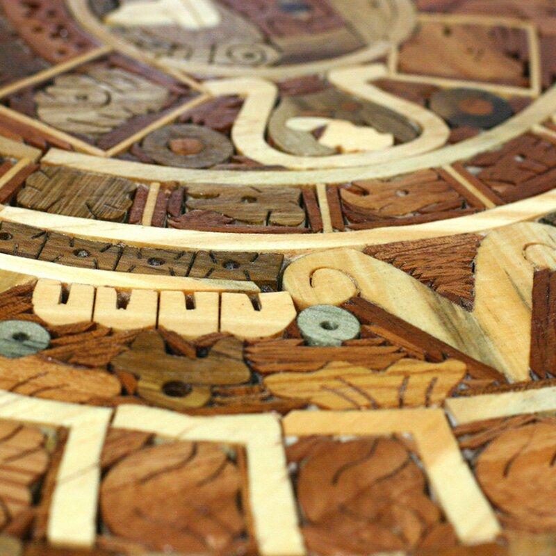 Novica Aztec Calendar Central American Archaeological Wood Calendar ...