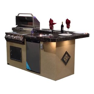 St. John BBQ Island with High Bar Outdoor Kitchen 4-Burner Built-In Convertible Gas Grill  sc 1 st  Wayfair & Outdoor Kitchens Youu0027ll Love | Wayfair
