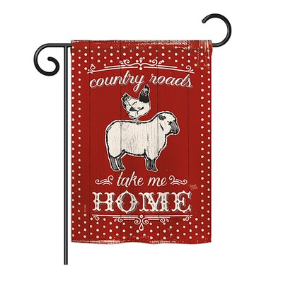 Breeze Decor Country Friends Nature Everyday Farm Animals Impressions 2-Sided Polyester 1'09 x 1'54 ft. Garden Flag