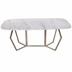 Everly Quinn Chancery Ultra-Modern Marble Coffee Table