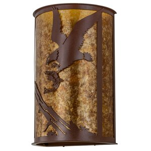 2-Light Strike of the Eagle Wall Sconce