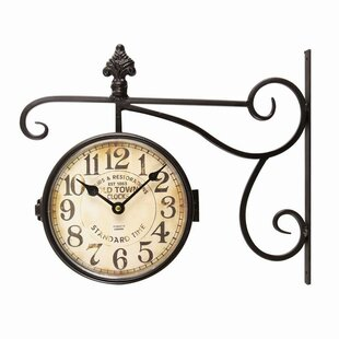Best Double Sided 5.7 Wall Clock by Darby Home Co