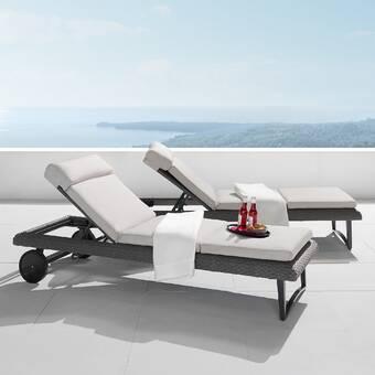 Wade Logan Castelli Sun Lounger Set With Cushions Reviews Wayfair