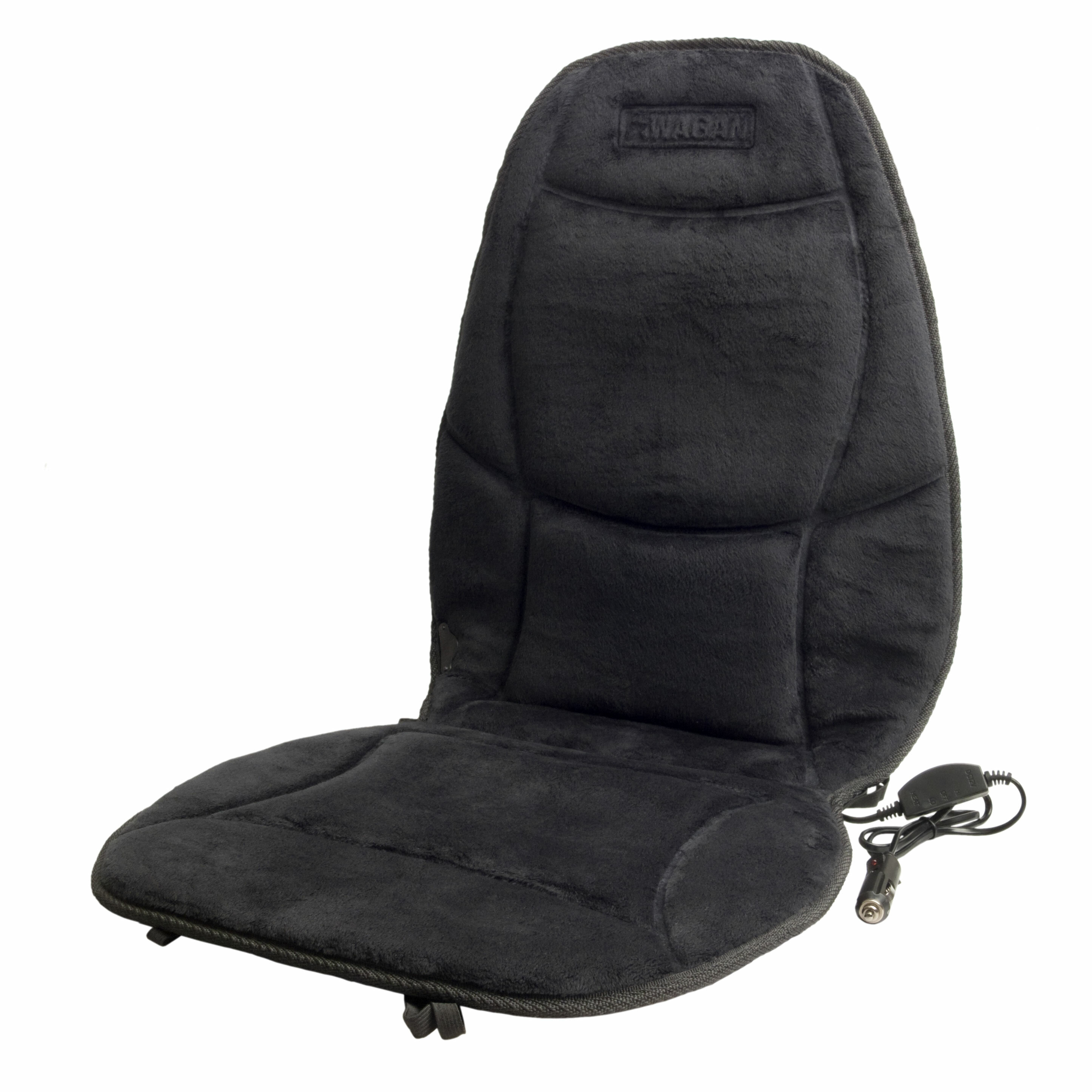 Wagan Velour Heated Seat Cushion With Lumbar Support Reviews Wayfair