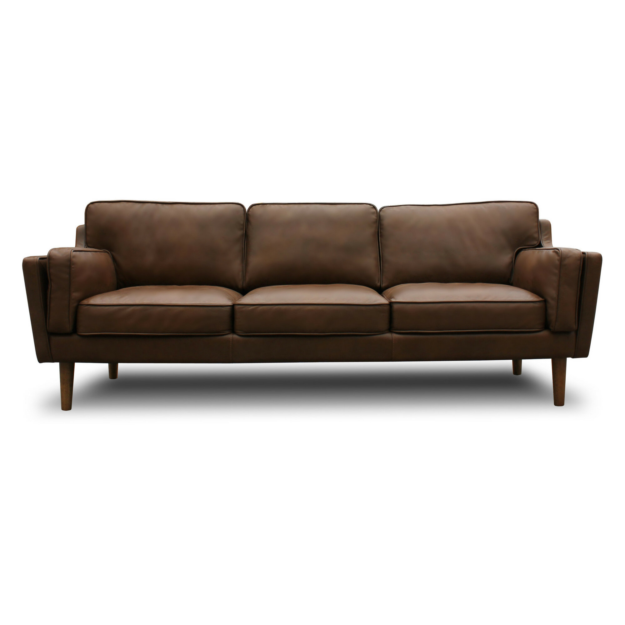 Union rustic kaufman mid century modern leather sofa reviews wayfair