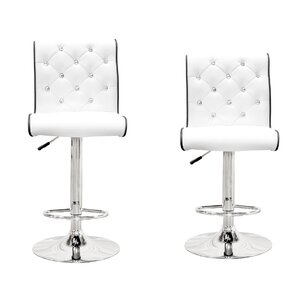 Elkton Adjustable Height Swivel Bar Stool Set (Set of 2) by Wade Logan
