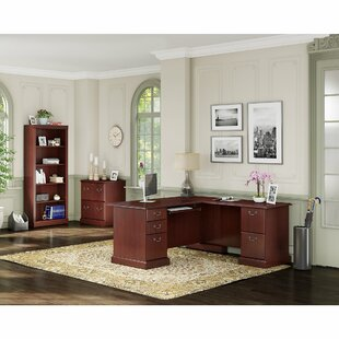 Kathy Ireland Office by Bush Bennington 3 Piece L-Shape Desk Office Suite