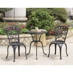 Ventura Transitional 3 Piece Bistro Set