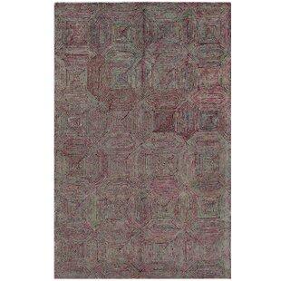 Chocho Hand Tufted Wool Green/Purple Rug by Bakero