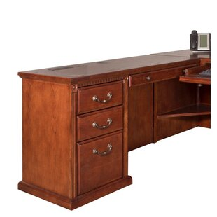 Darby Home Co Reynoldsville Office Burnish Left 2 Piece L-Shaped Desk Office Suite