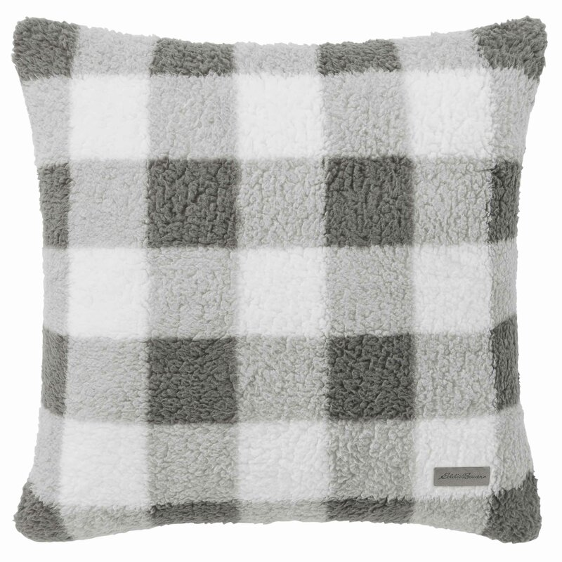 Snowfield Sherpa Throw Pillow - Come discover Christmas Decorating Plaids Buffalo Checks & American Country Style! #hellolovelystudio #farmhousechristmas #christmasdecor #plaid #buffalochecks #countrychristmas